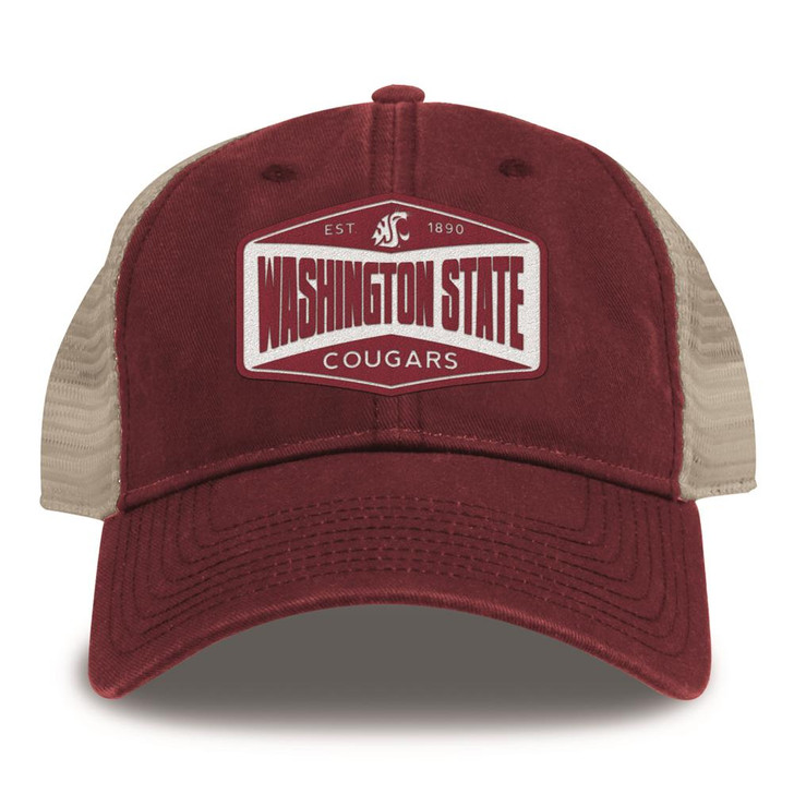 Washington State University Trucker Hat Washed Super Soft Mesh Cap