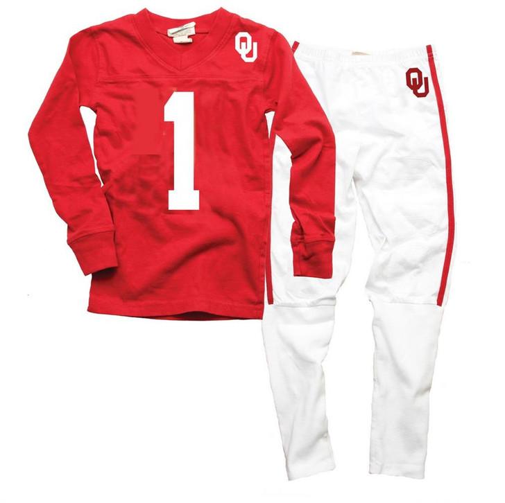 Infant/Toddler University of Oklahoma Sooners Pajamas LS Football PJs