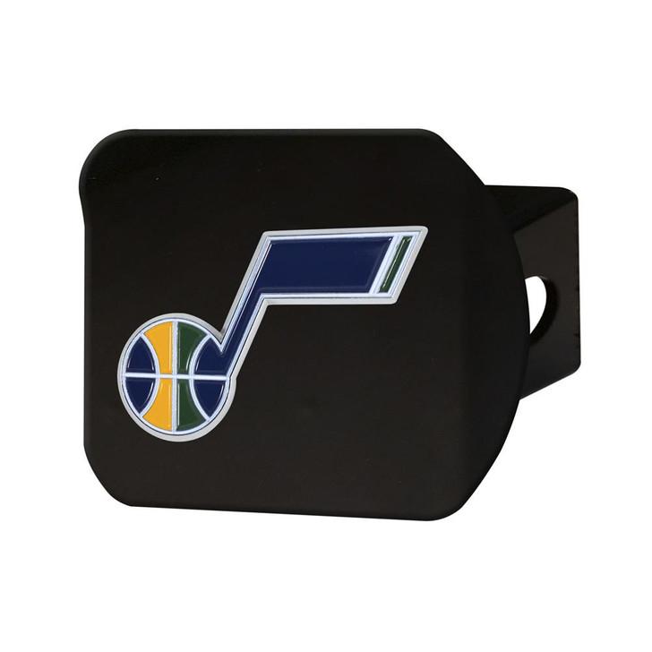 Black Utah Jazz Hitch Cover with Color Emblem