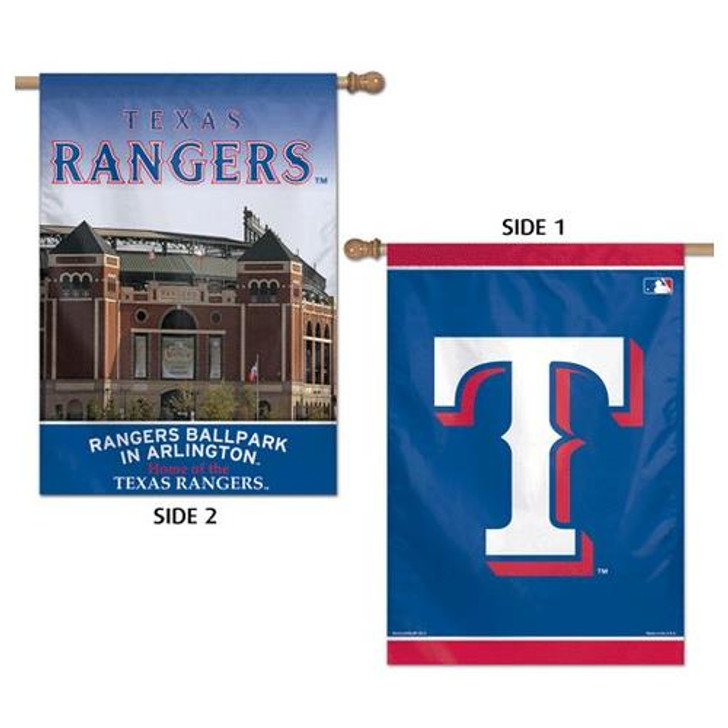 """Texas Rangers Flag 28"""" x 40"""" Double Sided Wall Banner"""