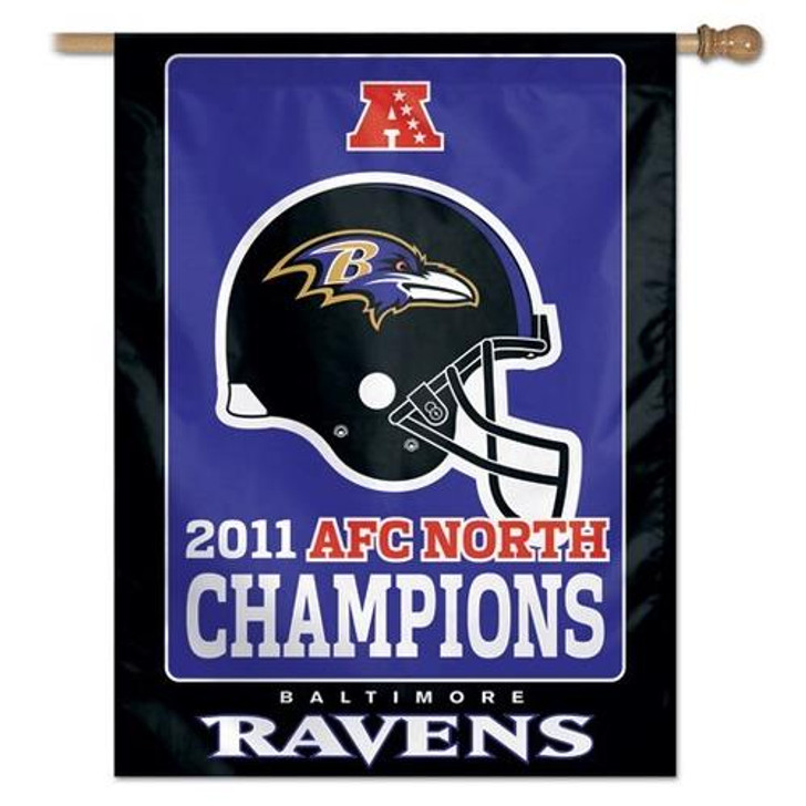 Baltimore Ravens Large Vertical Outdoor House Flag Outdoors