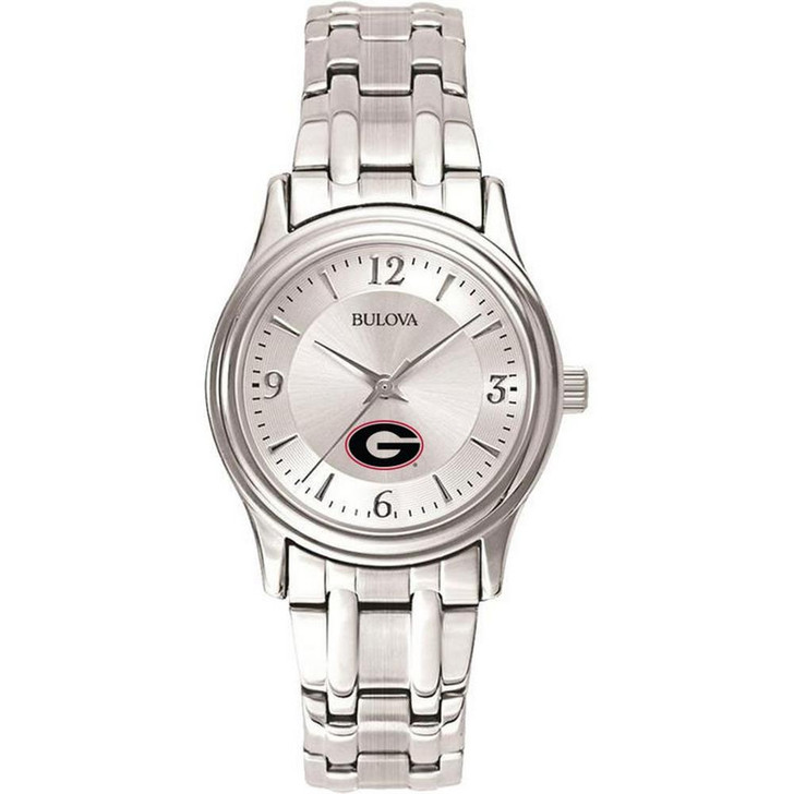Women's Georgia Bulldogs UGA Watch Bulova Silver Circle II