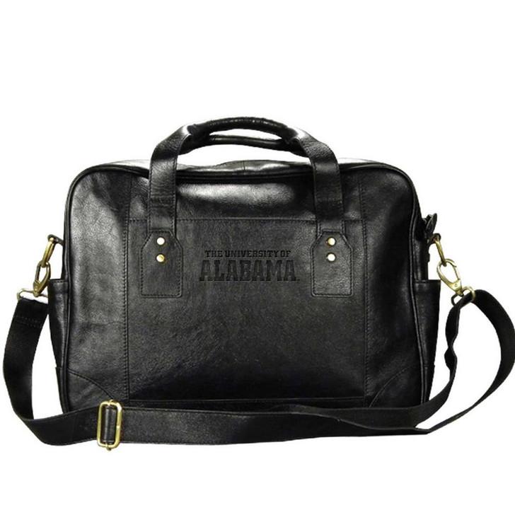 Alabama Crimson Tide Bama Business Case Black Genuine Leather