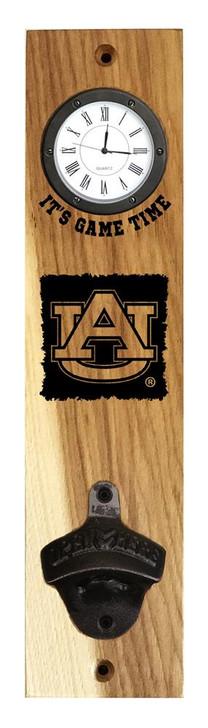 Auburn University Tigers Clock Wall Mount Bottle Opener Made USA
