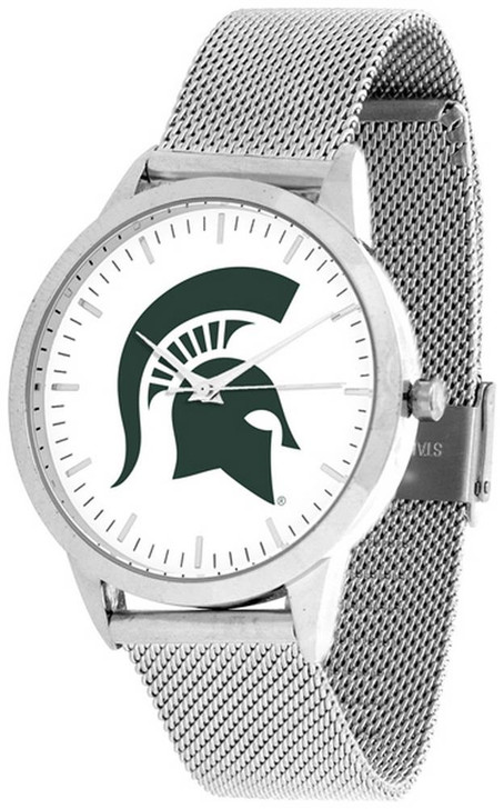 Michigan State University Watch Silver Mesh Statement Wristwatch