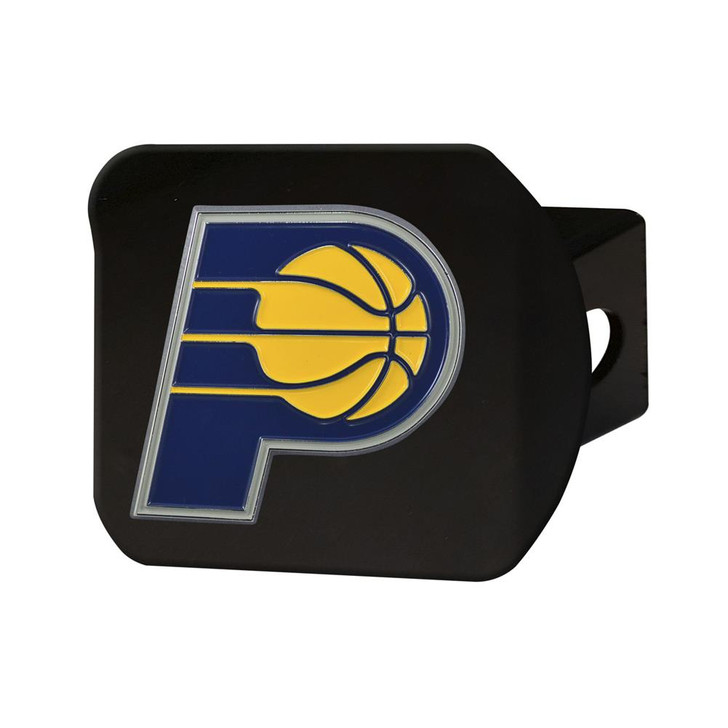 Black Indiana Pacers Hitch Cover with Color Emblem