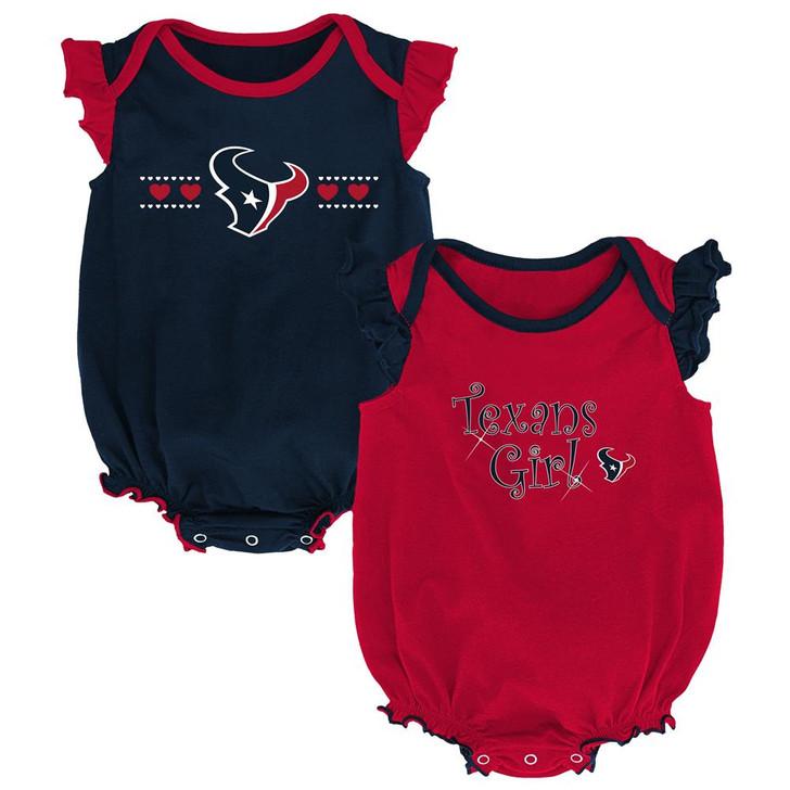 Houston Texans Creeper 2 Pack Homecoming Bodysuit Set