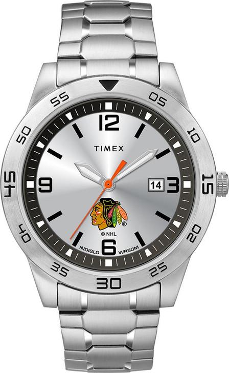 Men's Chicago Blackhawks Watch Timex Citation Steel Watch