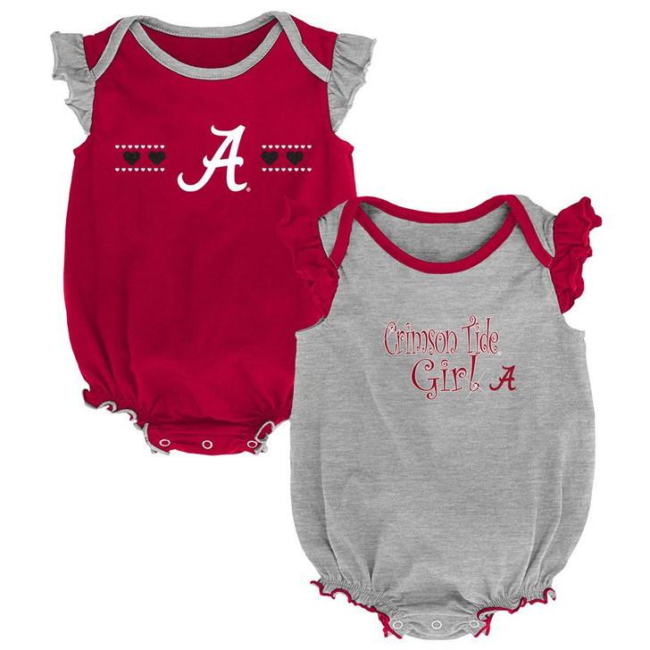 Alabama Crimson Tide Bama Creeper 2 Pack Homecoming Bodysuit Set