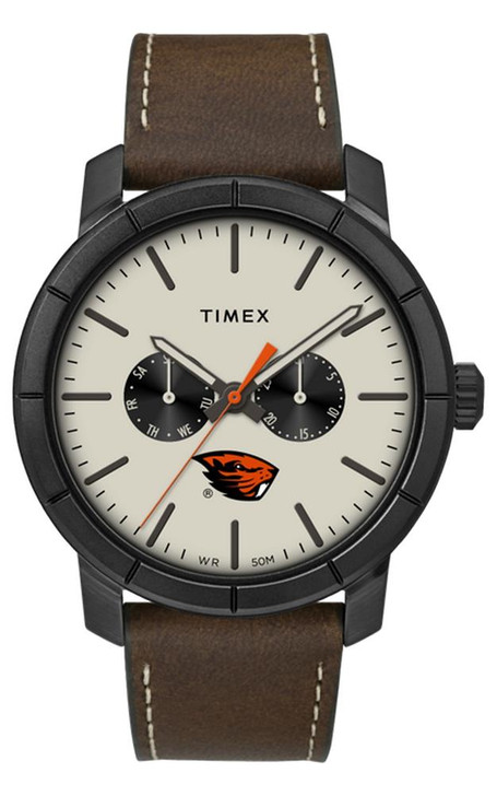 Men's Oregon State Beavers Timex Watch Home Team Leather Watch