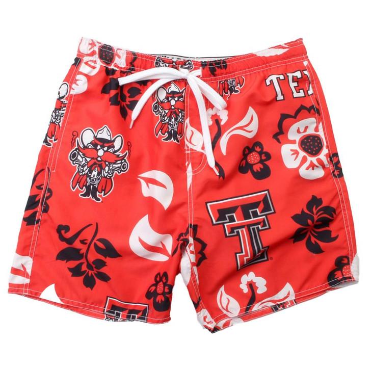 Men's Texas Tech University Swim Trunks Floral Swim Shorts