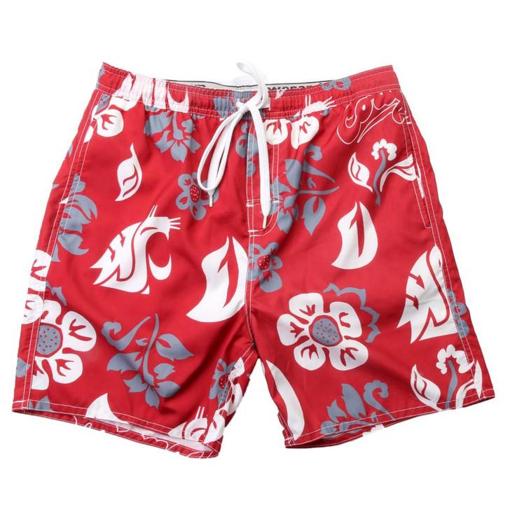 Men's Washington State University Swim Trunks Floral Swim Shorts