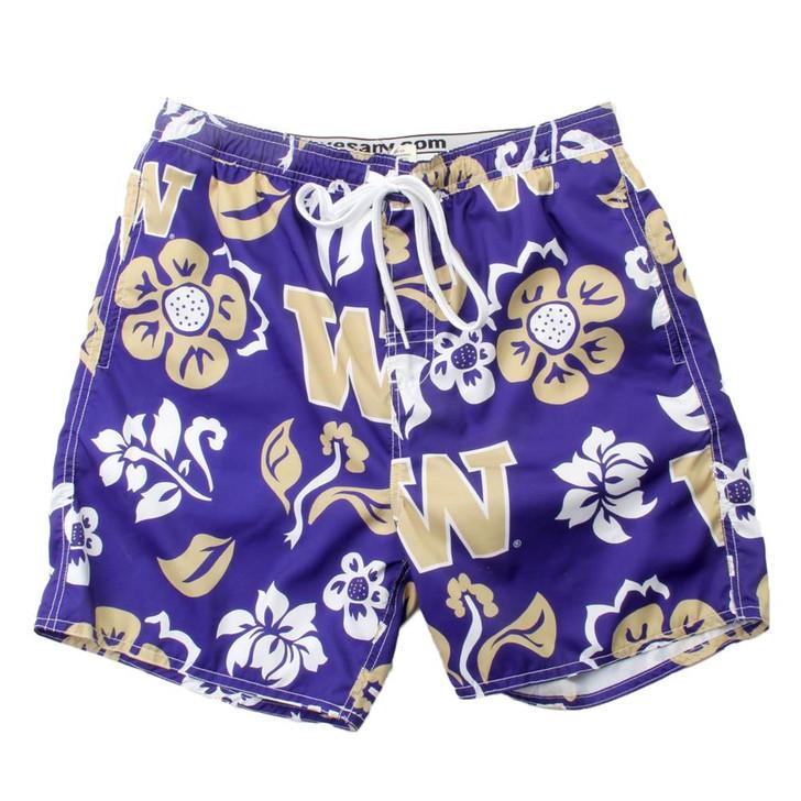 Men's University of Washington Swim Trunks Floral Swim Shorts
