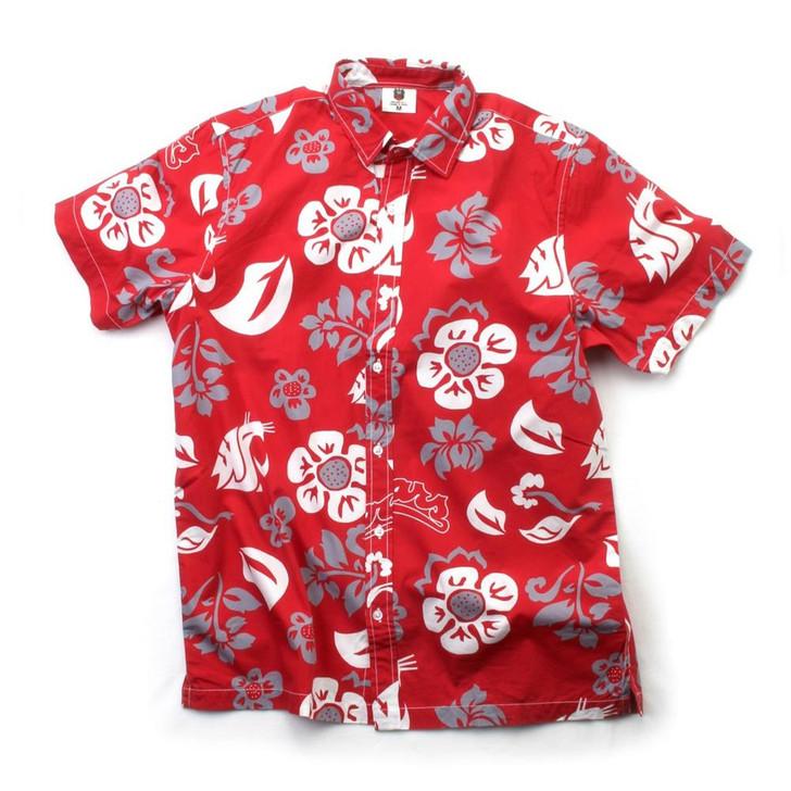 Men's Washington State University Floral Shirt Button Up Beach Shirt