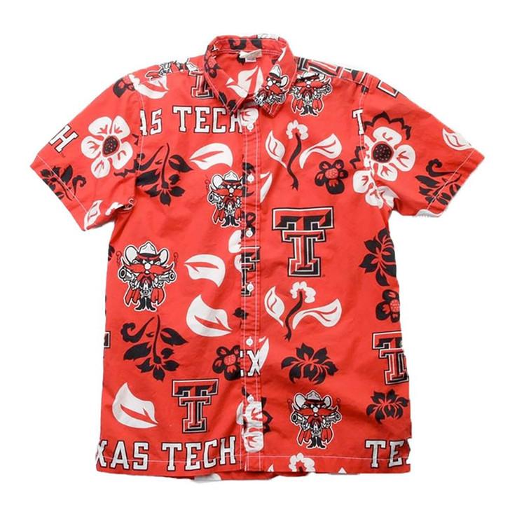 Men's Texas Tech University Floral Shirt Button Up Beach Shirt