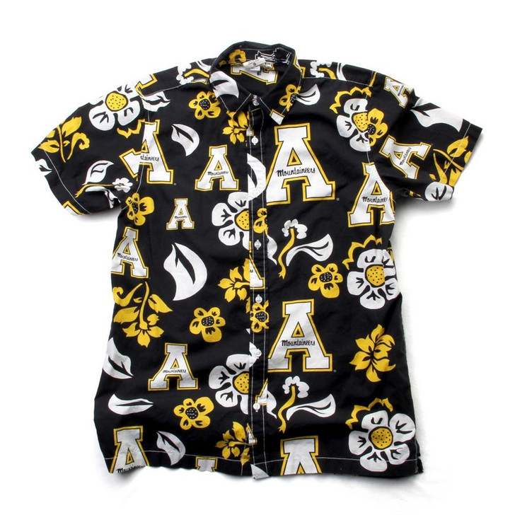 Men's Appalachian State Floral Shirt Button Up Beach Shirt
