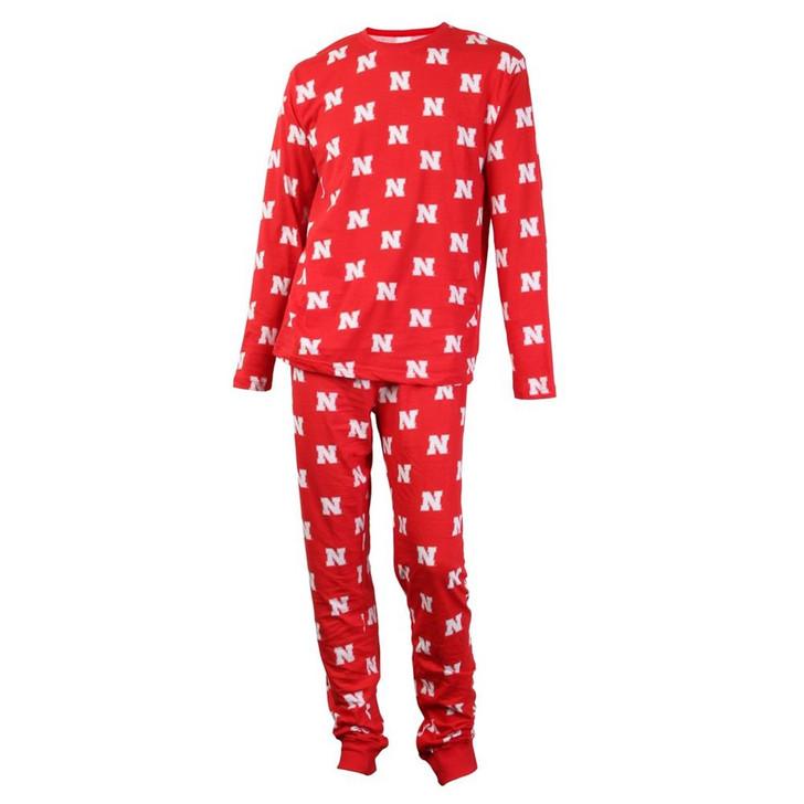 Mens Nebraska Cornhuskers Matching PJs Family Matching Pajamas