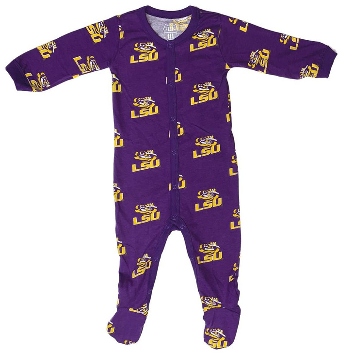 Infant LSU Tigers Louisiana State Matching PJs Family Pajamas