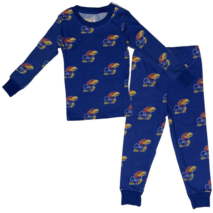 Kids Kansas Jayhawks KU Matching PJs Family Matching Pajamas