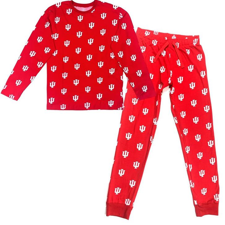 Mens Indiana University Hoosiers Matching PJs Family Matching Pajamas