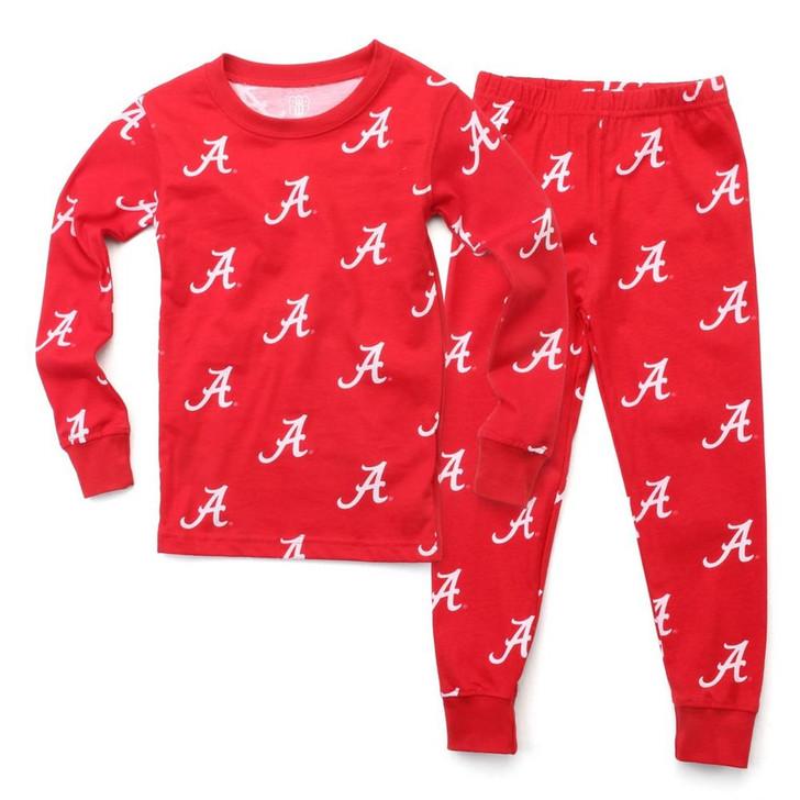 Kids Alabama Crimson Tide Bama Matching PJs Family Matching Pajamas