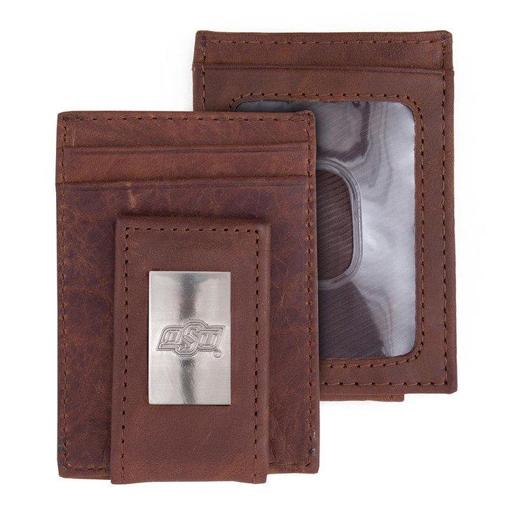 Oklahoma State University Wallet Front Pocket Leather Wallet
