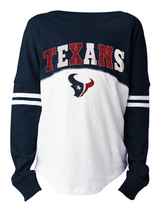 Girls Houston Texans T-Shirt New Era Long Sleeve Tee