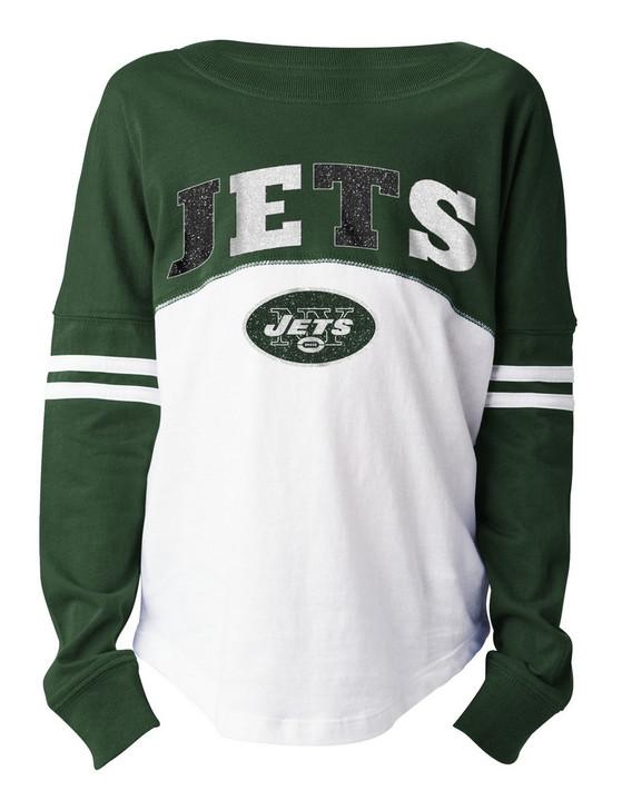 Girls New York Jets NY T-Shirt New Era Long Sleeve Tee