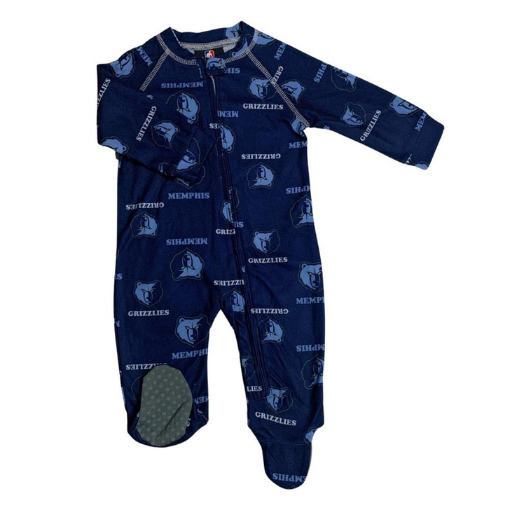 Infant/Toddler Memphis Grizzlies Coverall Zip Up Sleeper