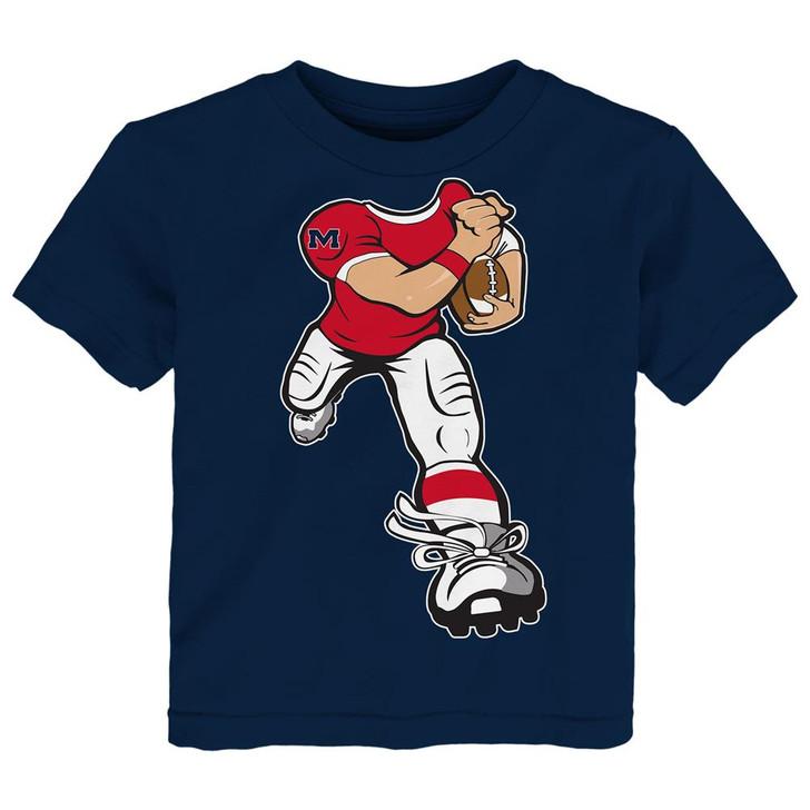 Toddler Ole Miss Rebels Tee Yard Rush Toddler T-Shirt