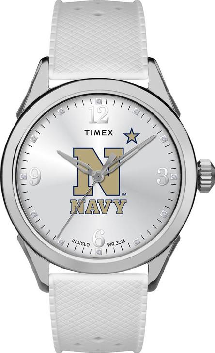 Naval Academy Navy Ladies Silcone Athena Timex Watch