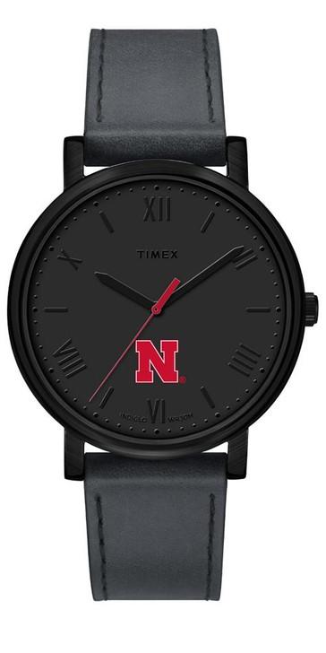 Ladies Timex Nebraska Cornhuskers Watch Black Night Game Watch