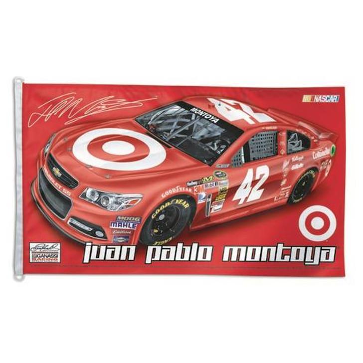 Juan Pablo Montoya 42 3x5 NASCAR Driver House Flag Banner