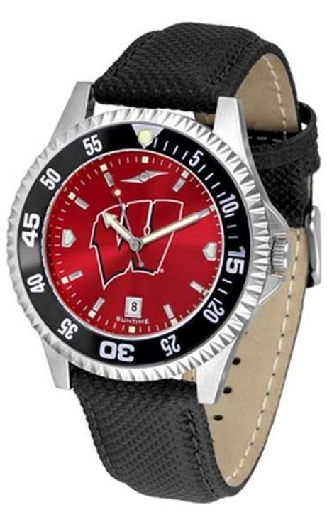 Men's University of Wisconsin Badgers Leather Watch Team Logo Timepiece