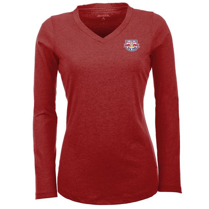 Women's New York Red Bulls Flip V-Neck Long Sleeve Tee