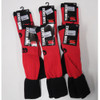 CCC rugby team match socks [red/black] (UK 2-5) 6 pair pack