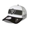 NEW ERA las vegas raiders NFL white a frame trucker cap [black/white]