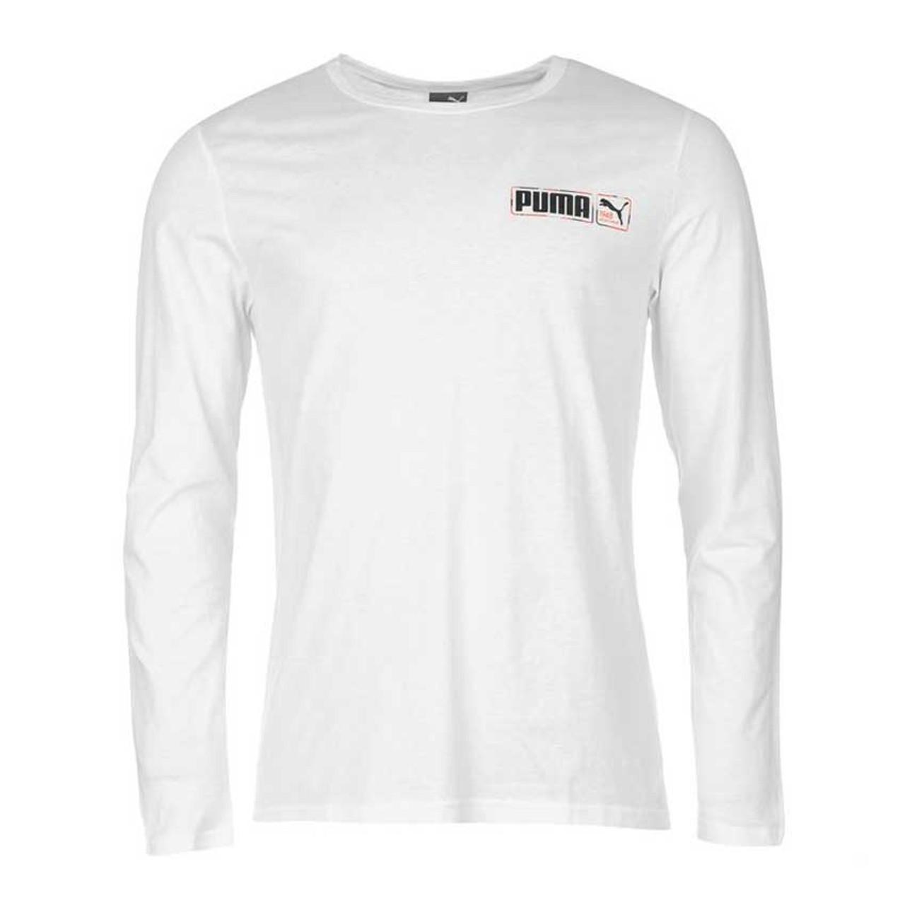926c5998 PUMA mens fun long sleeved t-shirt [white] SMALL