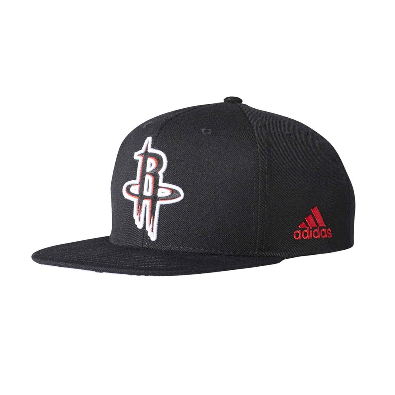 ADIDAS houston rockets basketball snapback flat cap  black  95bf358045b