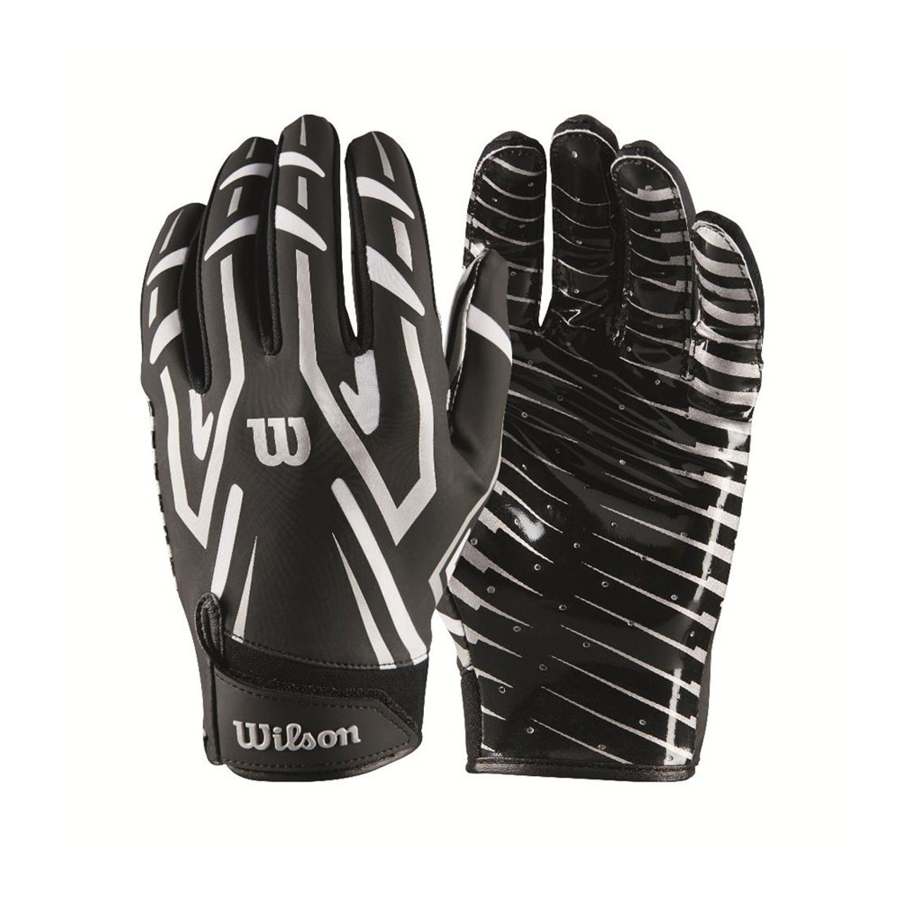 80ba38575d2 WILSON american football clutch receiver gloves-Large  black white
