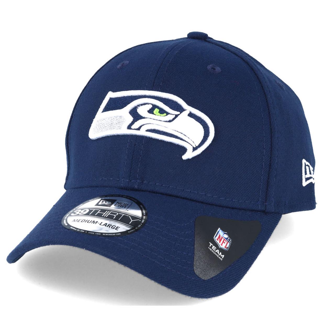 NEW ERA seattle seahawks 39thirty fitted american football cap  navy  3ec167ffe