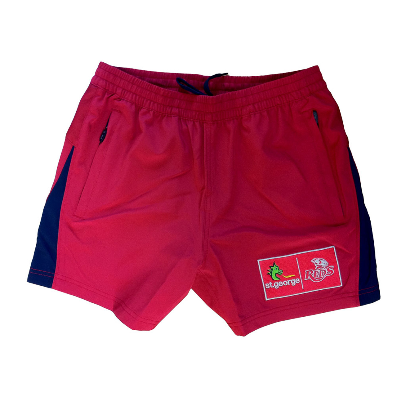 BLK queensland reds rugby training / gym shorts