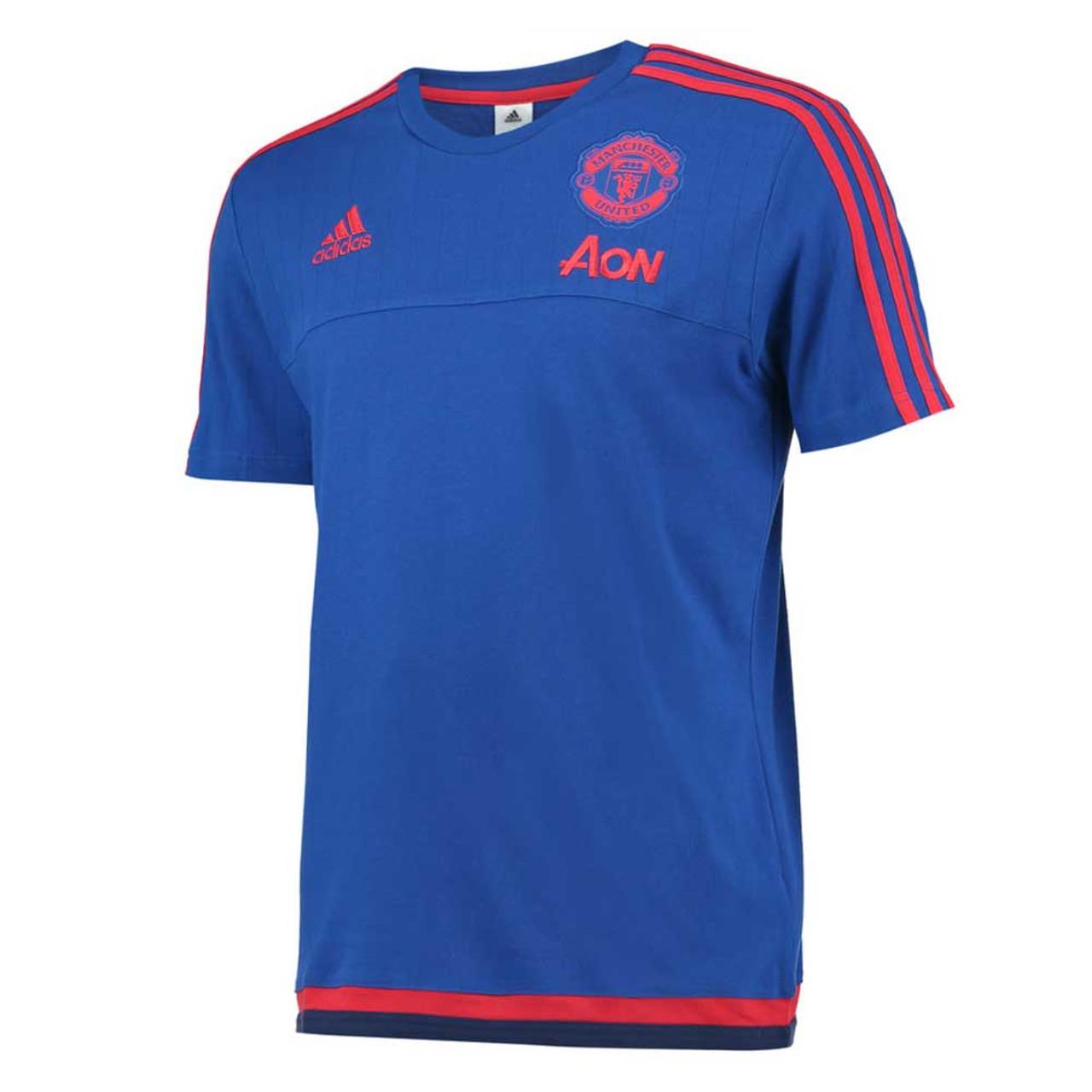 new arrival 41b9d ba6d5 ADIDAS Manchester United Classic Design T-Shirt [blue]