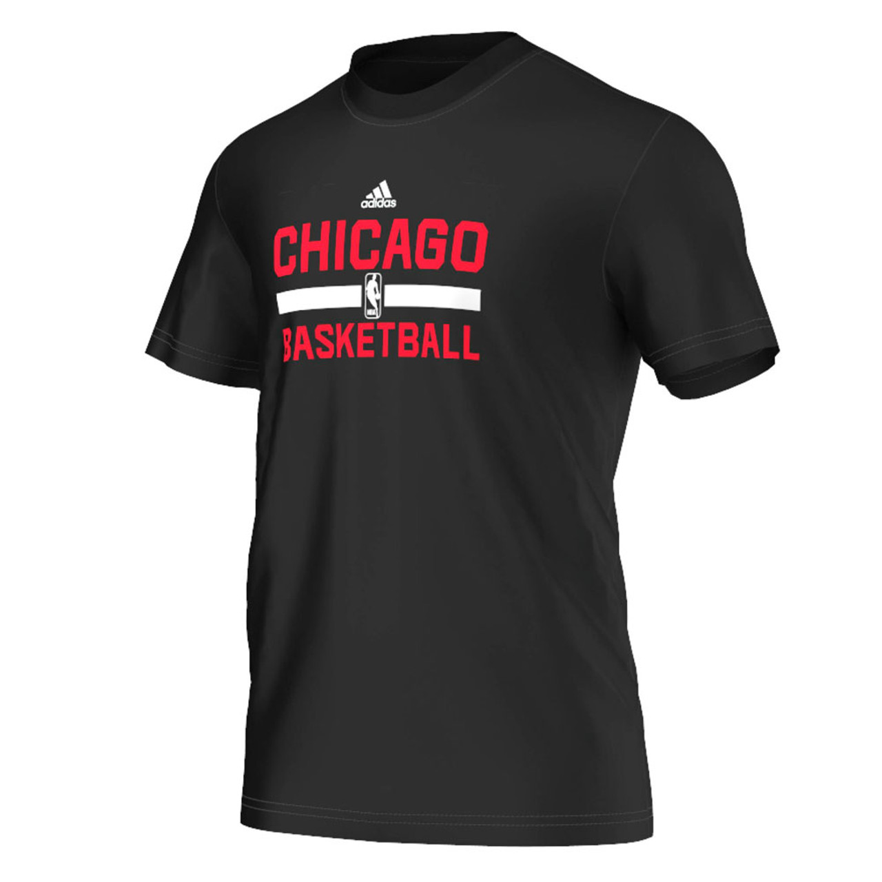 380e3333d ADIDAS chicago bulls basketball winter hoops game t-shirt  black