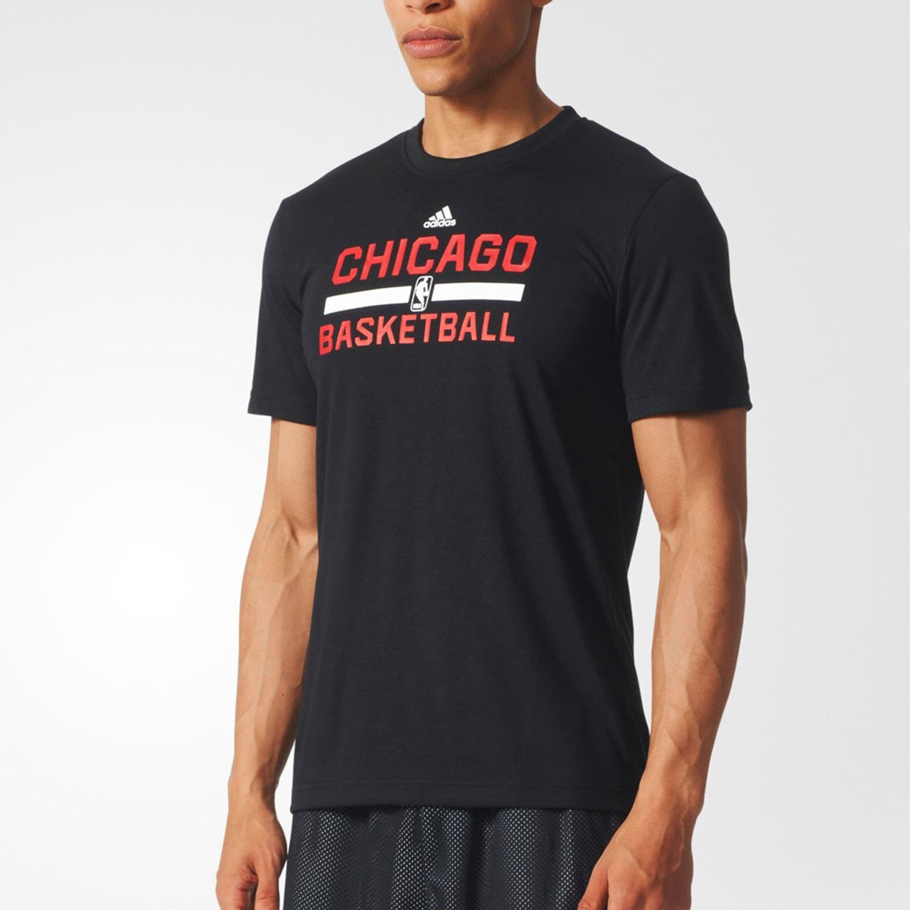 Hoops Chicago Basketball Winter Adidas Game Bulls T Shirtblack WH9EID2
