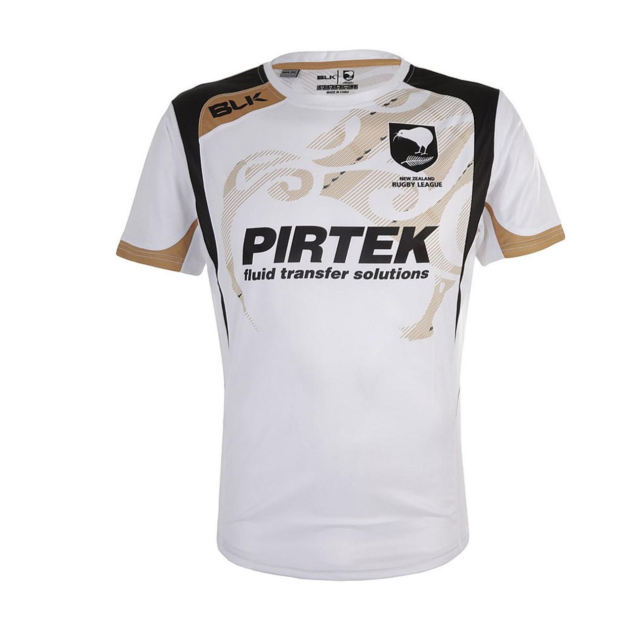 BLK new zealand kiwis rugby league training t-shirt [white]