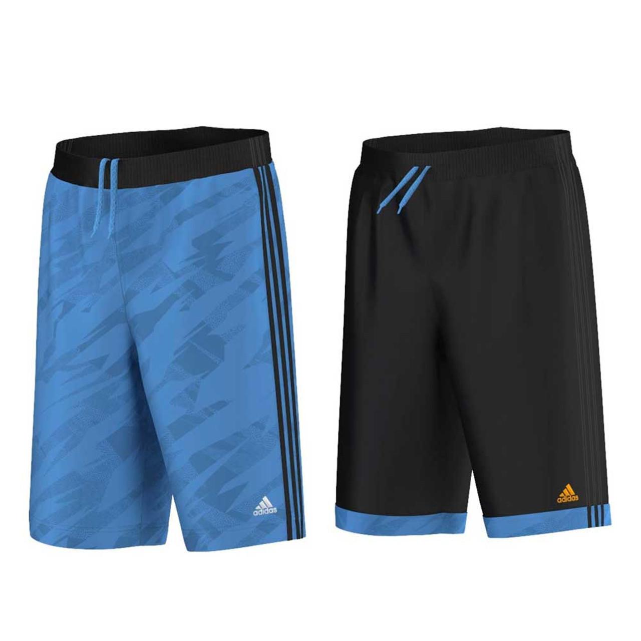 8b599b0c3428 ADIDAS reversible GFX basketball shorts [black/blue]