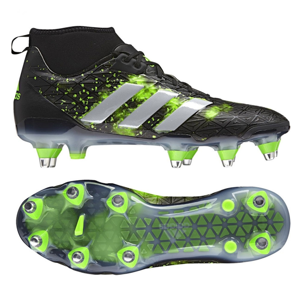 wholesale dealer 3298c c8b6b ADIDAS kakari force SG mid rugby boots  black green