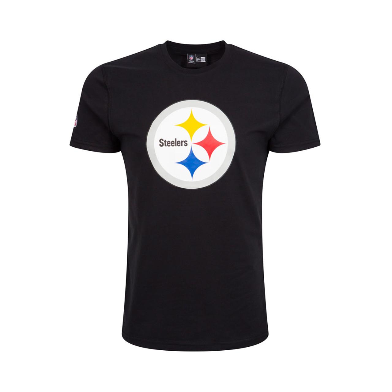50edda9809a NEW ERA Pittsburgh Steelers Team Logo NFL Tee Shirt  black