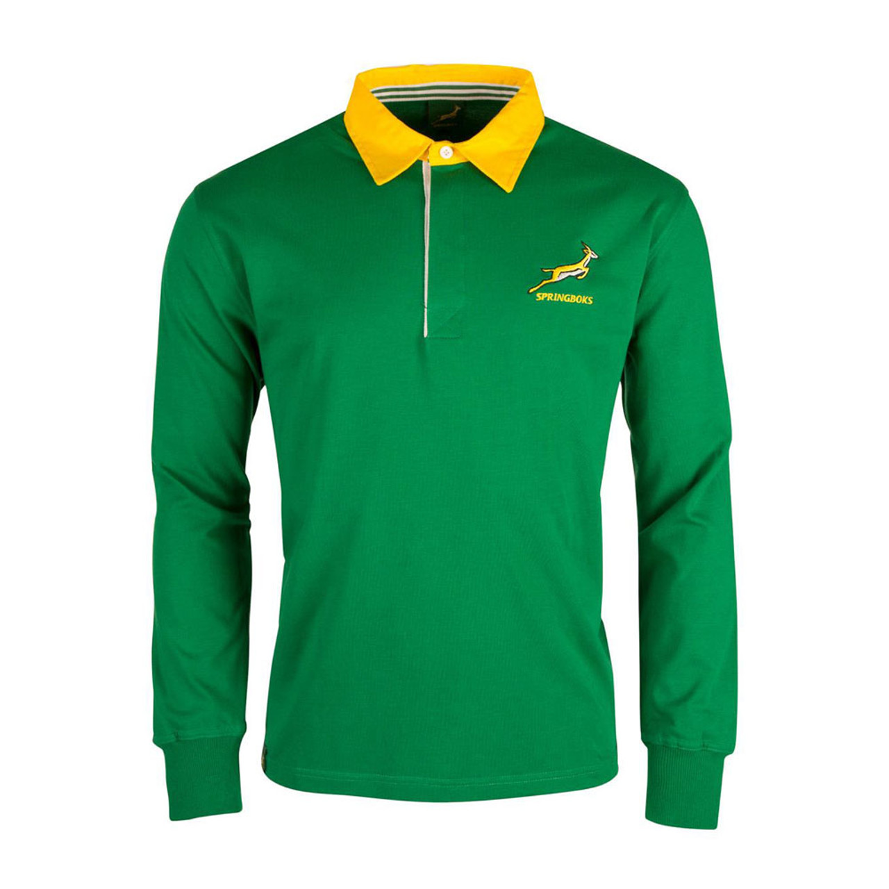 4f1d5411a28 Brandco Mens South Africa Classic Rugby Shirt LS [Green]
